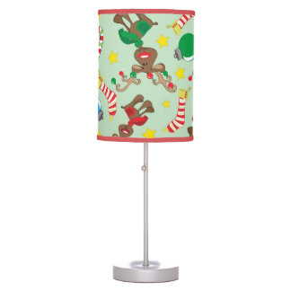 Funny Christmas Rudolph Cartoon Pattern Table Lamp