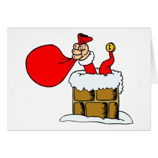 Funny Christmas Santa Claus Chimney Humor Holiday Card