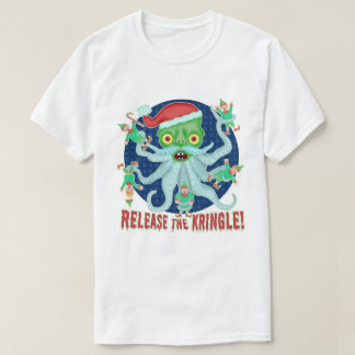 Funny Christmas Santa Claus Release the Kringle T-Shirt