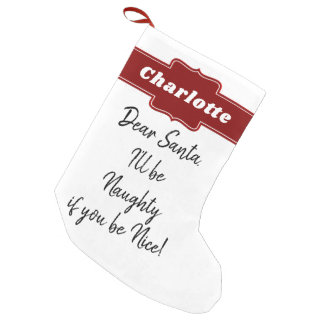 Funny Christmas Santa Letter Personalized Small Christmas Stocking
