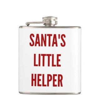 Funny Christmas santa's little helper flask xmas