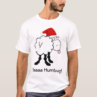 funny christmas sheep bah humbug tshirt
