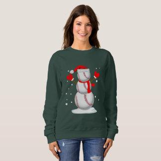 Funny Christmas shirt Baseball Snowman gift Shirt