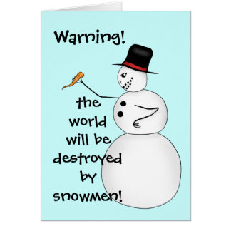 Funny Christmas snowman conspiracy Card