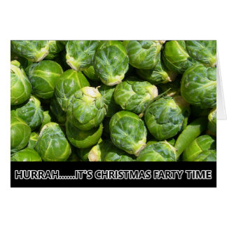 Funny Christmas sprouts Card