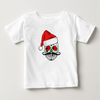 Funny Christmas Sugar Skull Baby T-Shirt