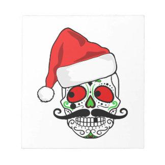 Funny Christmas Sugar Skull Notepad