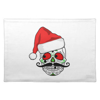 Funny Christmas Sugar Skull Placemat