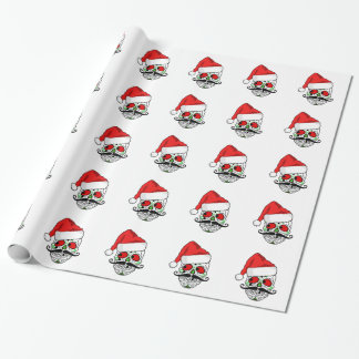 Funny Christmas Sugar Skull Wrapping Paper