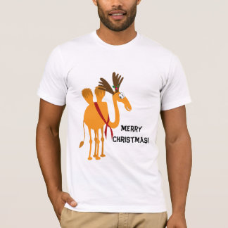 Funny Christmas T-Shirt - Camel in Reindeer Suit