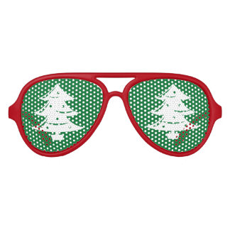 Funny Christmas tree party shades Xmas sunglasses