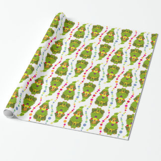Funny Christmas Tree Poodle Wrapping Paper