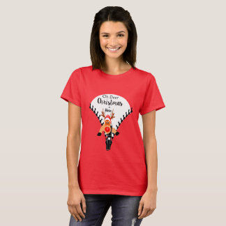Funny Christmas tshirt 'Oh Deer'