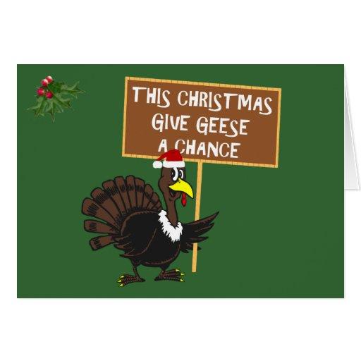 Funny Christmas Turkey Greeting Cards