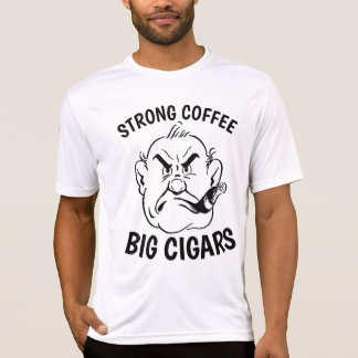 Funny CIGAR & COFFEE  T-shirts for Dad