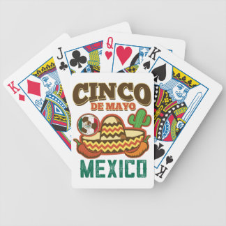 Funny Cinco De Mayo Mexican Bicycle Playing Cards