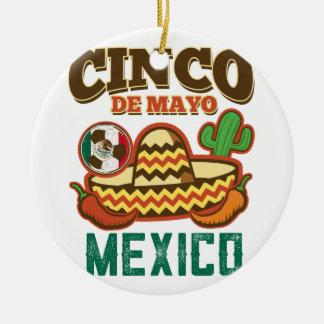Funny Cinco De Mayo Mexican Ceramic Ornament