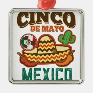 Funny Cinco De Mayo Mexican Metal Ornament