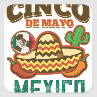 Funny Cinco De Mayo Mexican Square Sticker