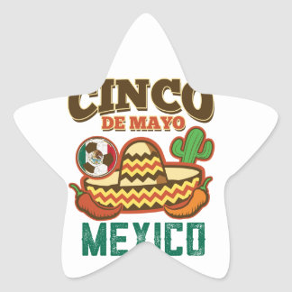 Funny Cinco De Mayo Mexican Star Sticker