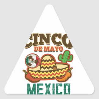 Funny Cinco De Mayo Mexican Triangle Sticker