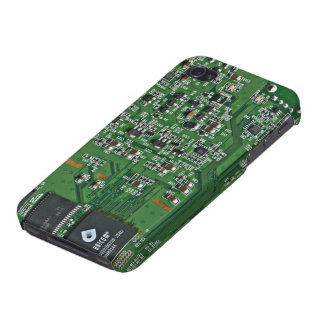 Funny circuit board iPhone 4/4S cases