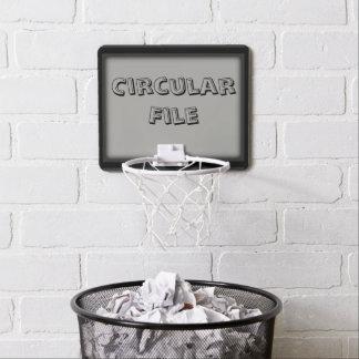 Funny Circular File Trash Can Hoop Gray