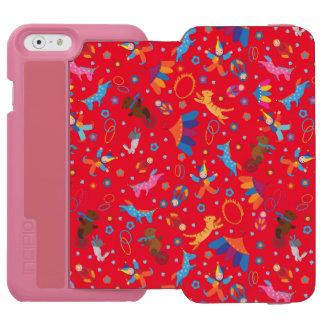 Funny circus cartoon cute animals pattern incipio watson™ iPhone 6 wallet case