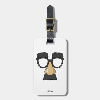 Funny Classic Comedy Humor Mustache Glasses Joke Luggage Tag