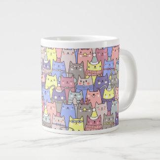 Funny Classy Cool Christmas Cats Jumbo Mug