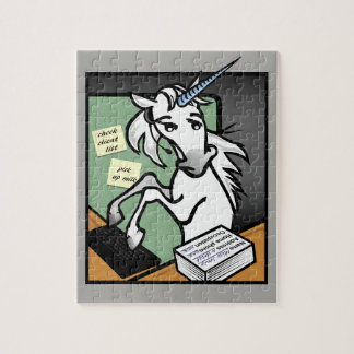 FUNNY CLERICAL GRAPHIC UNICORN VERTICAL PUZZLE