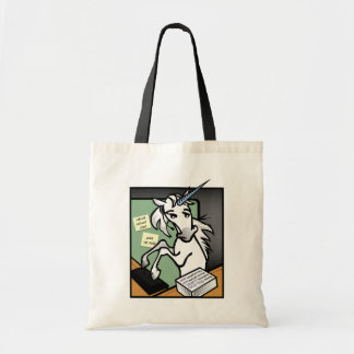 FUNNY CLERICAL UNICORN BUDGET TOTE BAG