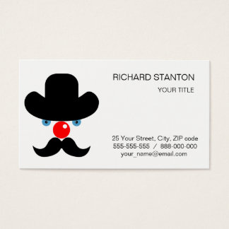 Funny clown face business card