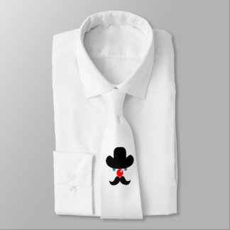 Funny clown face tie