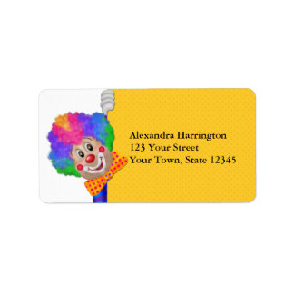 Funny Clown Label
