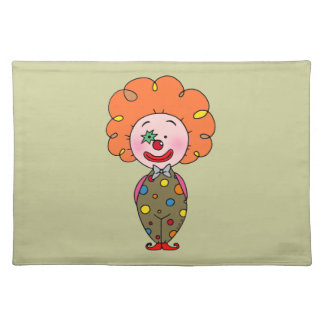 Funny clown placemat