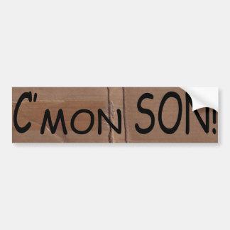 Funny C'mon Son Urban Bump Stickers