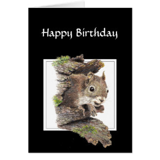 Funny Co worker Birthday, Sense of Humor, Squirrel Greeting Card