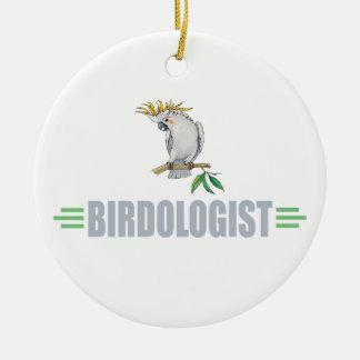 Funny Cockatiel Ceramic Ornament