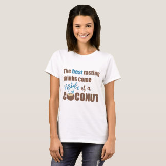 Funny Coconut Drinking Alcohol T-shirt