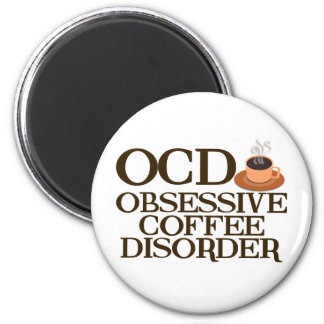 Funny Coffee Addict 2 Inch Round Magnet