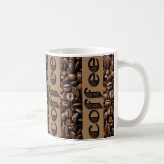 Funny Coffee Beans Typography Coffee Lovers Mug