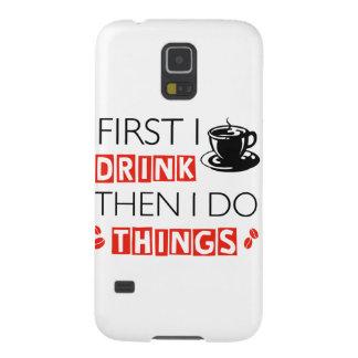 Funny Coffee designs Galaxy S5 Cover