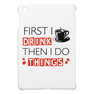 Funny Coffee designs iPad Mini Cover