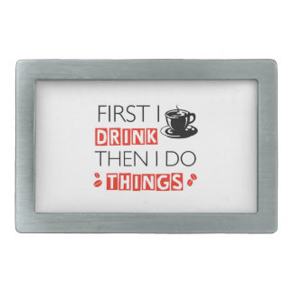 Funny Coffee designs Rectangular Belt Buckle