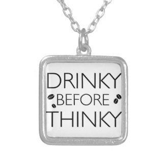 Funny Coffee designs Silver Plated Necklace