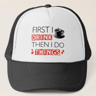 Funny Coffee designs Trucker Hat