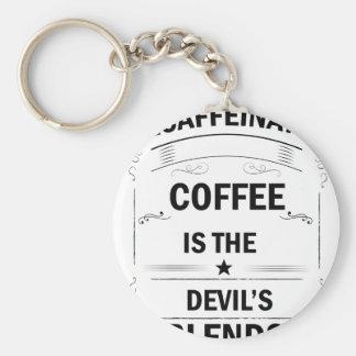 funny coffee drink keychain