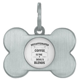 funny coffee drink pet name tag