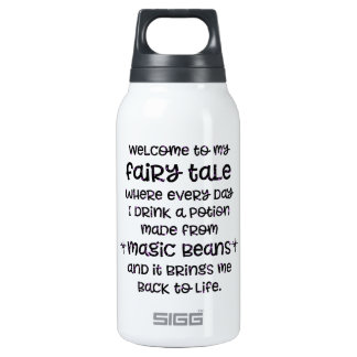 Funny coffee gift magic bean potion fairy tale insulated water bottle